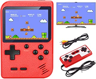 VanBasic Handheld Game Console, TV Video Game Retro Mini Game Player Travel Game with 400 Classical FC Games 3.0 Inch Color Screen Two Players Boy Games Xmas Gift for Kids and Adult Red