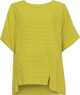 Women's Plus Linen Hanky Hem Baggy Oversized Top - Mustard - US 16-18 (UK 20-22)