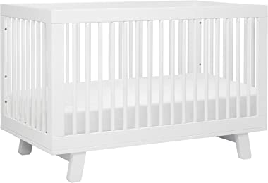 Babyletto Hudson 3-in-1 Convertible Crib with Toddler Bed Conversion Kit in White, Greenguard Gold Certified