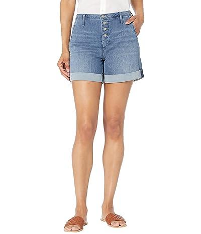 NYDJ Higher Rise Denim A-Line Shorts in Horizon