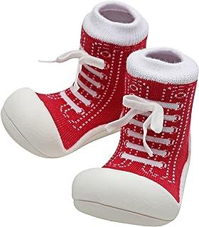 Attipas Sneaker Baby Walker Shoes, Red, Medium