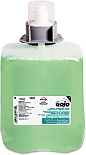 GOJO FMX-20 Green Certified Foam Hand, Hair & Body Wash, Cucumber Melon Scent, 2000 mL Foam Wash Refill for GOJO FMX-20 Push-Style Dispenser (Case of 2) - 5263-02