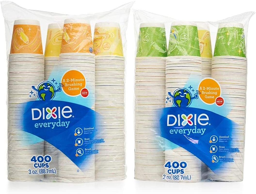 Dixie Bath Cup 3 Oz 800 Cups 2 Pack Of 400ct Varies Color