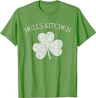 Hell's Kitchen T Shirt - Irish Shamrock Distressed Print