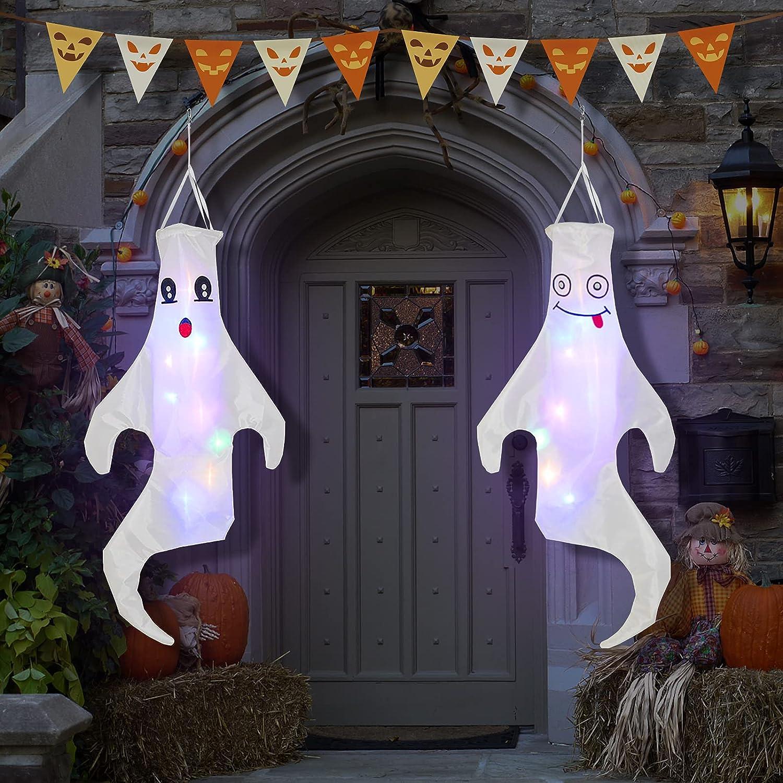2 Pack Halloween Ghosts Windsocks, 44