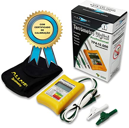 Terrômetro/miliohmímetro Digital TPA10.000-Revolution COM certificado. Ficou Fácil Medir Spda!