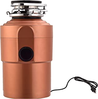 Garbage Disposals KUPPET 1.5 HP 3600 RPM Food Waste Garbage Disposal With Power Cord for Home Kitchen-3 Level of Grinding-Super Quiet&Easy to Install, Gold