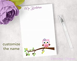 owl notepads personalized