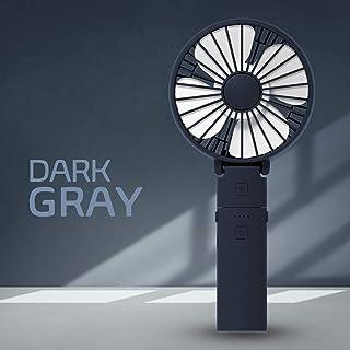 【2020年最新モデル】 STORM MONSTER F 2500mAh 10時間使用 USB充電式 2重安全回路 風量3段調節 軽量 180°折りたたみ モバイルバッテリー 軽量 ハンディ扇風機 ミニ扇風機 小型扇風機 卓上扇風機 手持ちファン ハンディファン 〔 IRIVER 〕 (【F】Dark Gray)