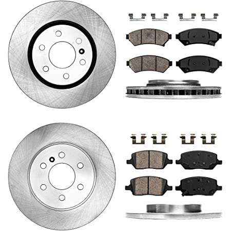 6 Lug FRONT Drilled and Slotted Brake Rotors for Terraza Uplander Relay 11.69 Detroit Axle 297mm