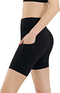 "BUBBLELIME 8"" Inseam Out Pocket Yoga Shorts Running Shorts Active Power Flex"