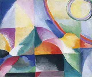 Sonia Delaunay Giclee Print On Canvas-Famous Paintings Fine Art Poster-Reproduction Wall Decor(Delaunay Terk Sonia Contrasts Simultaneous Simultaneous Contrasts) Large Size 39 x 32.9 inches #EDFB