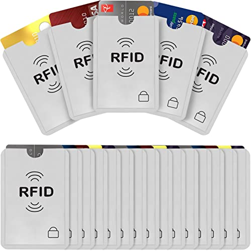 Savisto RFID Blocking Credit Card Sleeves | 20 Pack of Contactless Card Protection Holders for Identity Theft Protect...