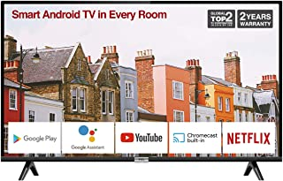 TCL 32ES568 32-Inch Smart Android TV HD, HDR, Micro Dimming, Netflix, YouTube, DVB Compatible, Dolby Audio, Bluetooth, Wi-...