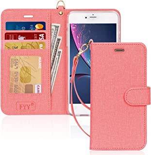 FYY Case for iPhone 8 Plus/iPhone 7 Plus,[Kickstand Feature] Luxury PU Leather Wallet Case Flip Folio Cover with [Card Slo...