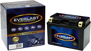 EverLast CTZ12S-BS 12V AGM Battery (Fresh Pack, Maintenance-Free Battery with Acid 6-Pack Bottle -5 15/16 L X 3 7/16 W X 4 5/16 H)