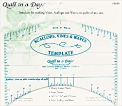scallops vines & waves template