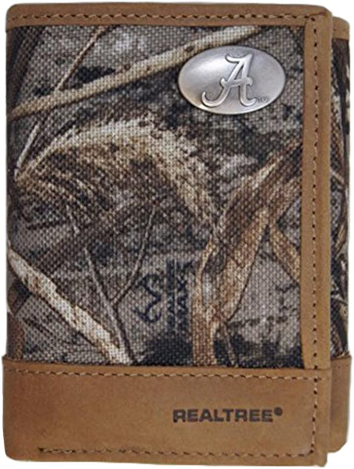 ZEP-PRO NCAA Alabama Crimson Tide Leather Trifold Nylon Realtree excellence Fees free!!
