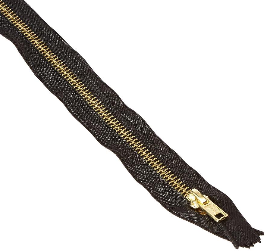 COATS & CLARK F5126-BLK Coverall Metal Zipper, 26