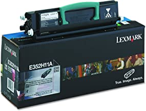 Lexmark E352H11A High-Yield Toner, 9000 Page-Yield, Black