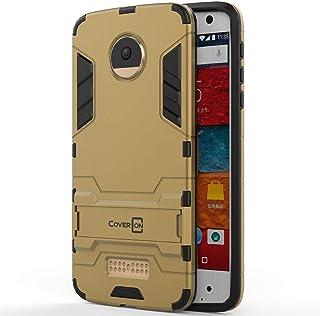 Motorola Moto Z Case Cover, CoverON, Warrior Impact Resistant, Gold
