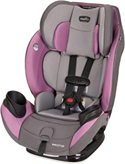 Evenflo EveryStage LX All-in-One Car Seat, Rear-Facing Seat, Convertible & Booster Car Seat, Grows with Child Up to 120 lbs, Angled for Comfort & Safety, 3-Times-Tighter Installation, Mira Pink