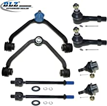 DLZ 8 Pcs Front Suspension Kit-2 Upper Control Arm Assembly 2 Lower Ball Joint 2 Inner 2 Outer Tie Rod End Compatible with 1998-2001 Ford Explorer Ford Ranger Mazda B3000 B4000 Mercury Mountaineer