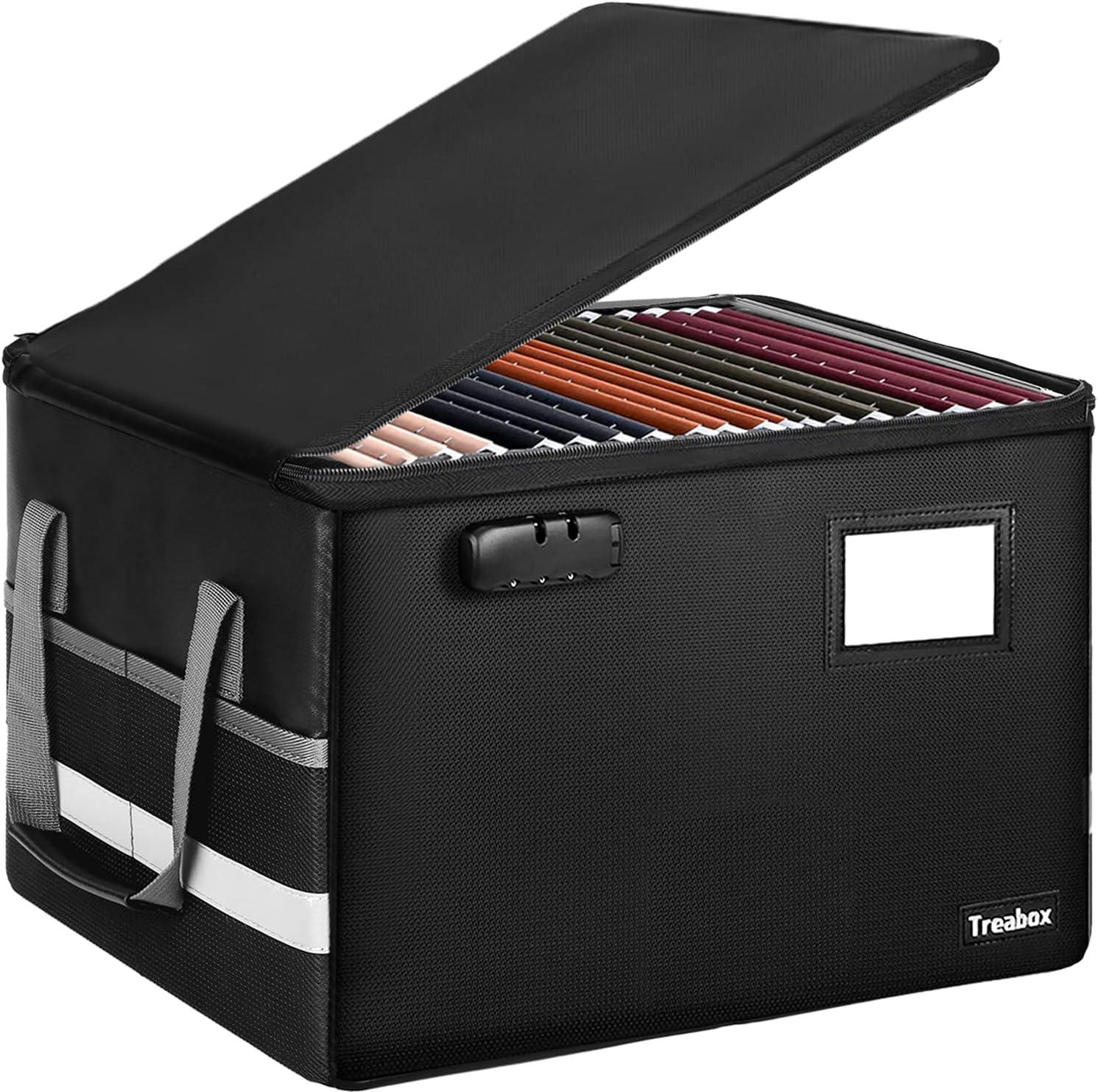Treabox Fireproof File Storage Box $23.97 Coupon