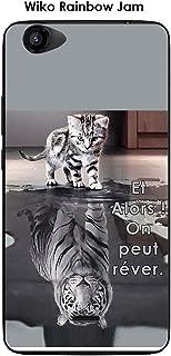 Amazon.fr : coque wiko rainbow silicone animaux : High-Tech
