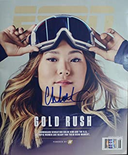 Chloe Kim Autographed Olympic Snowboarding ESPN Magazine 2/19/2018 Lojo 24692 - LOJO Certified - Autographed Olympic Caps and Hats