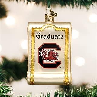 Old World Christmas University of South Carolina Diploma Glass Blown Ornament