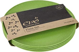 """EVO Sustainable Goods 8"""" Plate, Set of Four, Green"""