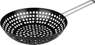 Fox Run Non-Stick Stir Fry Wok/Steamer, 17.5 x 11 x 4.5 inches, Black