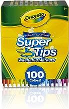 CRAYOLA Super Conseils Lavable marqueurs, Multicolore, 17.78x 14.73x 8.63cm
