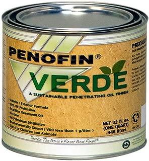 Performance Coatings 733921700901 Penofin Verde Sustainable Wood Finish, 1-Quart, Natural
