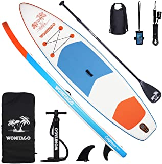 """wonitago Inflatable Stand Up Paddle Boards, 11' x 33"""" x 6"""" Ultra-Light SUP Board for All Skill Level with iSUP Travel Pack..."""