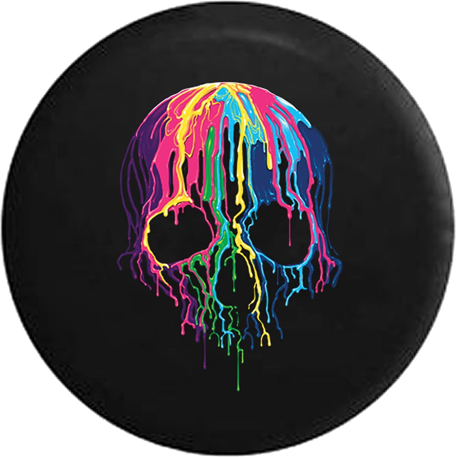ULNL Rock and Roll Skull Hand Spare Wheel Tire Cover Funny Waterproof Tire Protectors Novelty 15 Inch