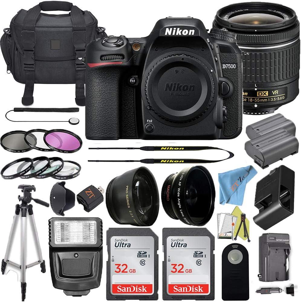 Nikon Super sale D7500 Digital SLR Camera DX-Format w Free shipping Megapixel 20.9 18-