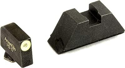 AmeriGlo, Sight, Fits All Glocks except 42/43, Green Tritium LimeGreenLumi Outline Front Black Rear, Tall Suppressor Set