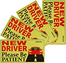 BOTOCAR Student Driver Magnet Car Signs Please Be Patient Student Driver Magnets Reflective Vehicle Bumper Sticker for New Drivers Magnetic Sticker Yellow Large Bold Text 10 x 3.5 Inch Pack of 3