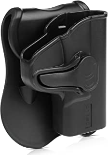 S&W M&P Shield 9mm/.40 Holsters, OWB Holster for Smith & Wesson MP Shield 9MM/.40, Shield M2.0 9MM/.40 3.1 Inch Barrel Pistol W/O Laser, Tactical Outside The Waistband Paddle Holsters -Right Handed