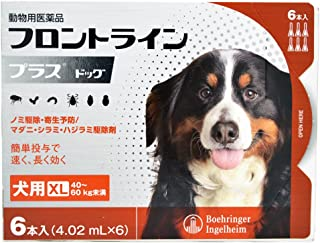 【動物用医薬品】ベーリンガーインゲルハイム アニマルヘルスジャパン フロントライン プラス ドッグ 犬用 XL(40kg~60kg未満) 4.02mL×6本入