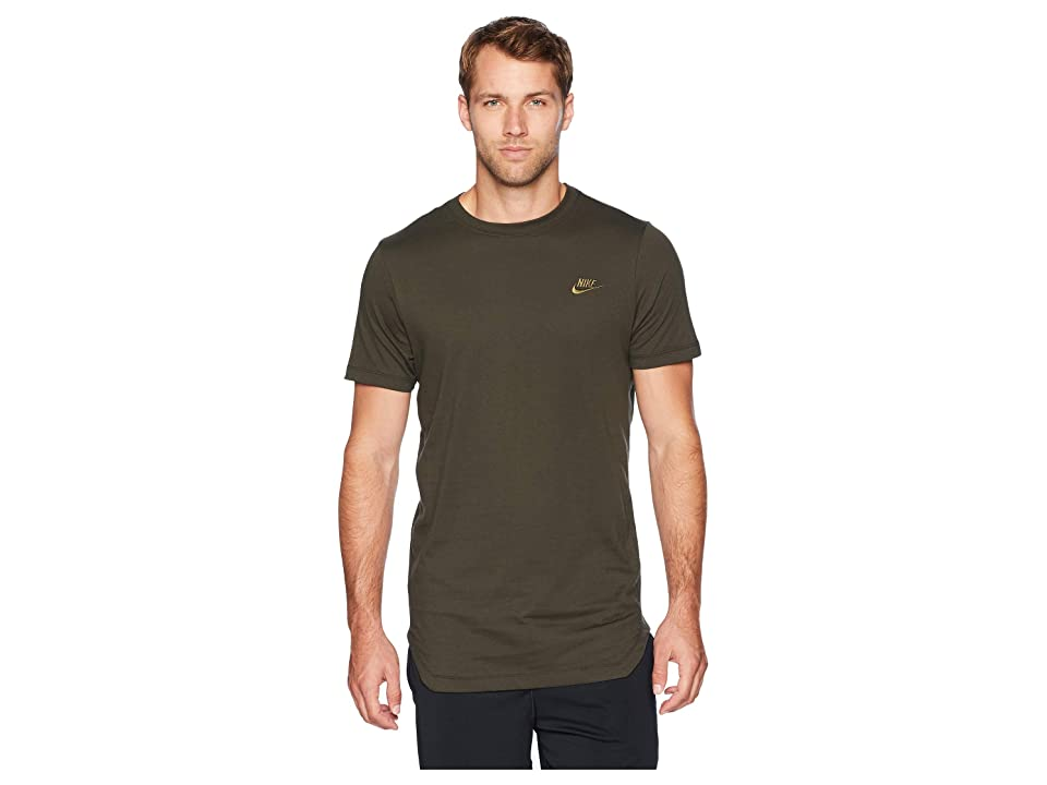 Nike NSW Tee Alt Hem Futura T-Shirt (Sequoia/Olive Canvas) Men