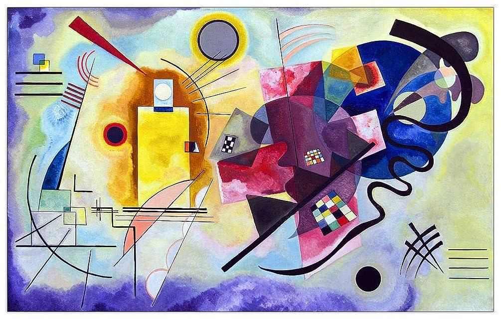 ArtPlaza TW92425 Vassily Kandinsky-Giallo, Rosso e blu Decorative Panel, 23.5x16.5 Inch, Multicolored