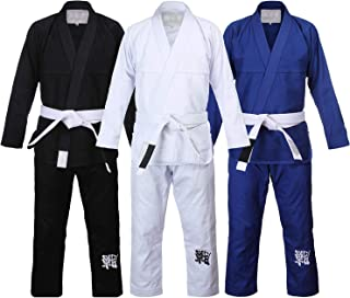 WSULMENG Jiu Jitsu Gi, Brazilian Jiu Jitsu BJJ Gi for Men Grappling AX BJJ Uniform Kimono Training Sets with Belt