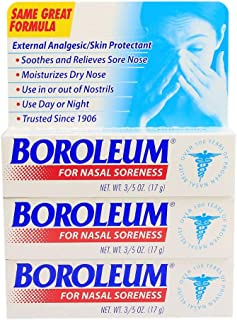Boroleum for Nasal Soreness (3 PACK), 17 grams, 3/5 Ounce per Tube