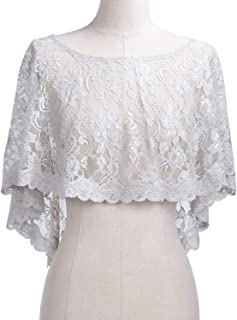 Women's Wedding Cape Floral Lace Shawls and Wraps for Evening Dresses