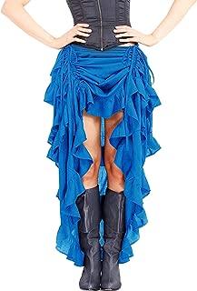 Falda Larga para Mujer con Volantes Ajustables, Estilo gótico, Steampunk, Victoriano, gótico