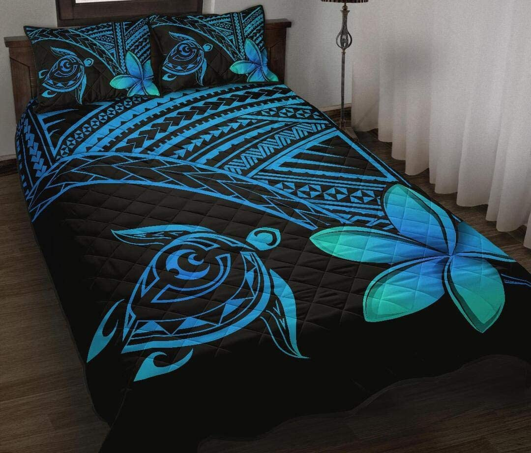 Personalized Hawaiian Courier shipping free shipping Super sale period limited Turtle Plumeria Polynesian Sets St Quilt P