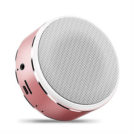 SHA Altoparlante Bluetooth Musica Stereo Mini Altoparlante Bluetooth Altoparlante Hi-Fi Wireless Subwoofer Altoparlante Supporto Audio Tf Aux USB 85Mm * 37Mm Oro Rosa - Trova i prezzi più bassi